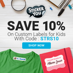 10% Off on Custom Labels for Kids